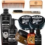 Kit Barbearia Barbeiro Barber Shop Barbeiros Atacado com 2 Pomadas