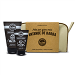 Kit Barbearia Clube Necessaire para o Barbear (3 Produtos) Conjunto