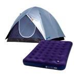 Kit Barraca Camping Luna- 5 Pessoas- 009038 + Colchão Inflável Casal- 009072- Mor<BR><BR>