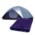 Kit Barraca Camping Luna- 7 Pessoas- 009040 + Colchão Inflável Casal- 009072- Mor