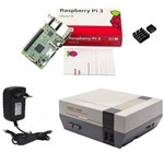 Kit Básico Raspberry Pi 3 - Case Retroflag Nespi