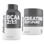 Kit Bcaa 2:1:1 60 Capsulas + Creatina 100% Pure - Atlhetica