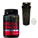 Kit BCAA 2400 60 TAB + Coqueteleira 600ml com Mola