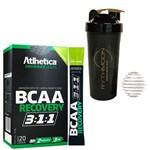 Kit BCAA Recovery 3:1:1 com 20 Stick + Coqueteleira 600ml com Mola
