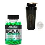 Kit BCAA Recovery 3:1:1 Pos Treino 120 Caps + Coqueteleira 600ml com Mola