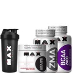 Kit Bcaa + ZMA + Creatina - Max Titanium