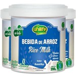 Kit 3 Bebida de Arroz Sem Lactose Vegan Unilife 200g