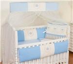 Kit Berço Coroa Azul Bebê
