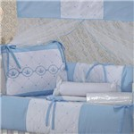 Kit Berço Coroa Encantada Azul 9 Peças