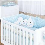 Kit Berço Linha Premium Coleção Balãozinho Azul 10 Peças - Batistela Baby