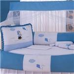 Kit Berço Menino Pipa Azul 9 Peças
