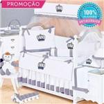 Kit Berço Realeza New Azul Marinho 09 Peças