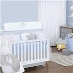 Quarto de Bebê Happy Azul 200 Fios 16 Peças