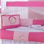 Kit Berço Unicórnio Encantado Pink 9 Peças