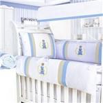 Kit Berço Urso Encantado Azul Bebê 09 Peças