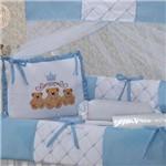 Kit Berço Ursos Baby Azul 9 Peças