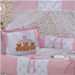 Kit Berço Ursos Baby Rosa 9 Peças