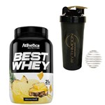 Kit Best Whey 900g Abacaxi Frape + Coqueteleira 600ml com Mola