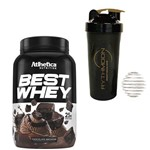 Kit Best Whey 900g Chocolate Brownie + Coqueteleira 600ml com Mola