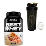 Kit Best Whey 900g Churros + Coqueteleira 600ml com Mola