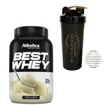 Kit Best Whey 900g Vanilla Cream + Coqueteleira 600ml com Mola