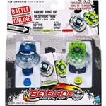 Kit 2 Beyblade Pião Metal Fury Scythe Kronos X Blitz Lynx - Hasbro