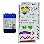 Kit Bloco Metalizado Azul Carnaval - 9x13 Sem Pauta