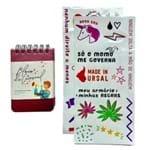 Kit Bloco Metalizado Rosa Carnaval - 9x13 Sem Pauta