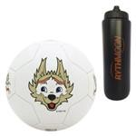 Kit Bola de Futebol Zabivaka 2018 Licenciada Oficial N5 + Squeeze Automático 1lt