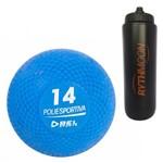 Kit Bola Iniciação de Borracha 14 Bel Sports 81400 + Squeeze Automático 1lt