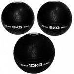 Kit Bola Slam Ball com 6 Kg + 8 Kg + 10 Kg Preta Liveup