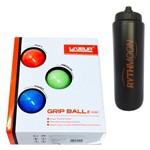 Kit Bolas de Massagem 5cm LS3311 Liveup + Squeeze Automático 1lt