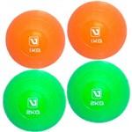 Kit 2 Bolas de Peso 1 Kg + 2 Bolas de Peso 2 Kg Liveup