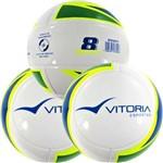 Kit 3 Bolas Vitoria Oficial Futebol Society Profissional