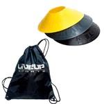 Kit Bolsa Esportiva Gym Sack Liveup Ls3710-s + 12 Half Cones Chapéu Chinês Pretorian Hc-pp