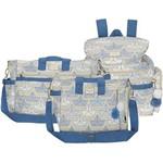 Kit Bolsa Maternidade Barquinho Azul 3 Peças