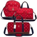 Kit 3 Bolsas Maternidade Navy Sarja Vermelho - Classic For Baby Bags
