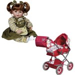 Kit Boneca Adora Doll Froggy Fun Girl e Carrinho de Boneca Adora Doll