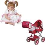 Kit Boneca Adora Doll Happy Birthday e Carrinho de Boneca Adora Doll