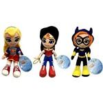 Kit Bonecas Pequenas de Pelúcia Dc Super Hero Girls Mattel : Supergirl + Mulher Maravilha + Batgirl