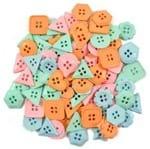 Kit Botões Divertidos Geométricos Círculo 100g - 020 Variados