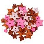 Kit Botões Divertidos Geométricos Círculo 100g - 040 Estrelas