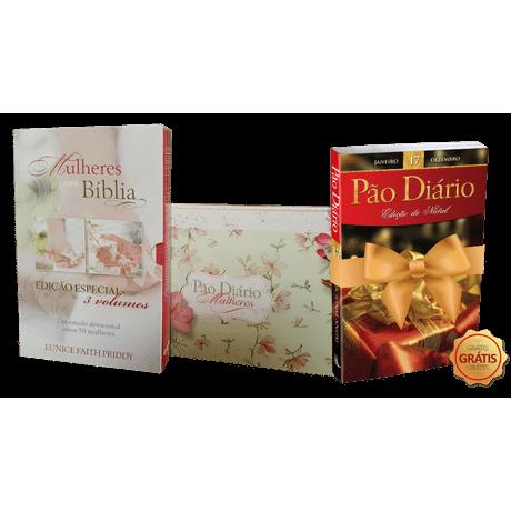 Kit Box Mulheres na Bíblia + Box Pão Diário Mulheres