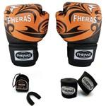 Kit Boxe Muay Thai Top - Luva Bandagem Bucal - TRIBAL