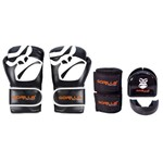 Kit Boxe - MuayThai Full Pretection Luva Boxe/Muay-Thai + Bandagem + Protetor Bucal - 14 Oz Gorilla