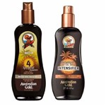 Kit Bronzeador Fps 4 Spray Gel + Intensificador Australian Gold 2x237ml