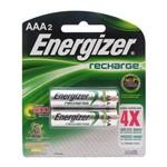 Kit C/ 4 Pilha Energizer Recarregável Aaa2