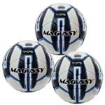 Kit C/ 3 Bolas Magussy Matrix Max 100 Sub 11 Infantil Futsal