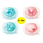 Kit C/ 2 Chupetas Ultra Soft 0-6m - Avent