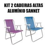 Kit 2 Cadeiras Altas de Alumínio Sannet